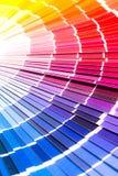 Open Pantone sample colors catalogue. royalty free stock photos