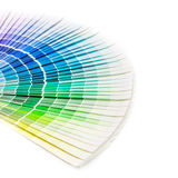 Open Pantone sample colors catalogue. royalty free stock photo