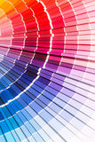 Open Pantone sample colors catalogue. Stock Photography