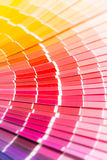 Open Pantone sample colors catalogue. Royalty Free Stock Photos