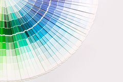 Open Pantone sample colors catalogue. Stock Image