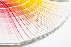Open Pantone sample colors catalogue. Royalty Free Stock Photo