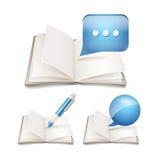 Open paper book stock illustration