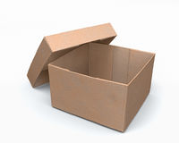 Open paper box 3d model Royalty Free Stock Image