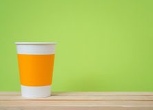 Open paper cup Stock Photos