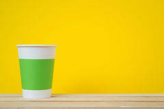 Open paper cup Royalty Free Stock Images