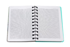Open paper notebook with blank pages Royalty Free Stock Photo