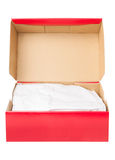 Open paper shoe box Royalty Free Stock Photo