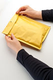 Open a parcel Stock Images