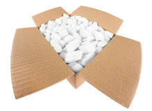 Open parcel Stock Photo