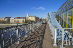 Open passage of a footbridge. Stock Photography