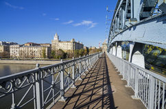 Open passage of a footbridge. Royalty Free Stock Photography
