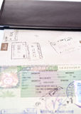 Open passport. With a visa for Greece Royalty Free Stock Photography