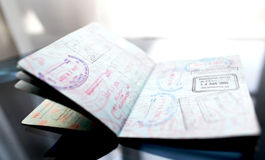 Open Passport Stock Photos