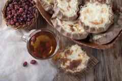Open pastei met fijngestampte aardappels royalty-vrije stock foto's