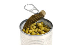 Open pea-can Royalty Free Stock Image