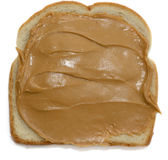 Open peanut butter sandwich Stock Photos
