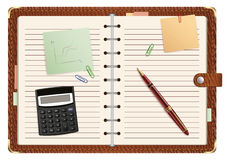 Open personal organizer Royalty Free Stock Images