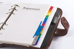 Open personal organizer Stock Images