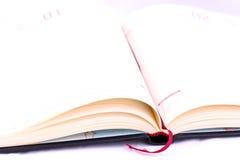 Open persoonlijk notitieboekje, agenda royalty-vrije stock afbeelding