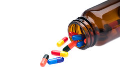 Open pharmaceutical bottle Stock Photography