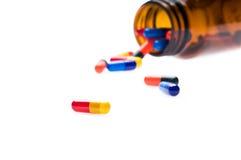 Open pharmaceutical bottle Stock Photo