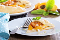 Open pie with apricots Stock Photo