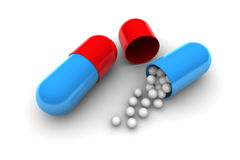 Open Pill Royalty Free Stock Images