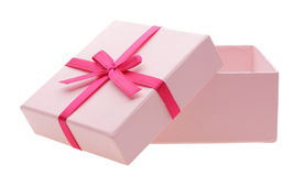 Open pink box Royalty Free Stock Images