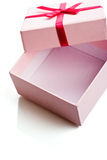 Open pink gift box Royalty Free Stock Images