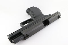 Open pistol. 9mm pistol prepare to load bullet Stock Images
