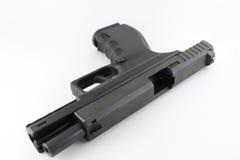 Open pistol. 9mm pistol prepare to load bullet stock images