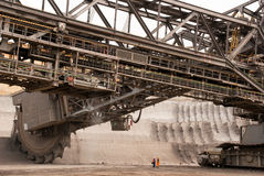 Open-pit ορυχείο, Hambach, Γερμανία Στοκ εικόνα με δικαίωμα ελεύθερης χρήσης