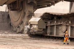 Open-pit шахта, Hambach, Германия Стоковая Фотография RF