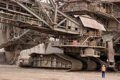 Open-pit шахта, Hambach, Германия Стоковое Изображение