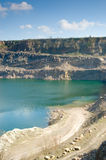 The open pit. With lake Royalty Free Stock Images
