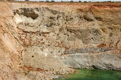 Open Pit Bench Collapse. Australia Stock Photography