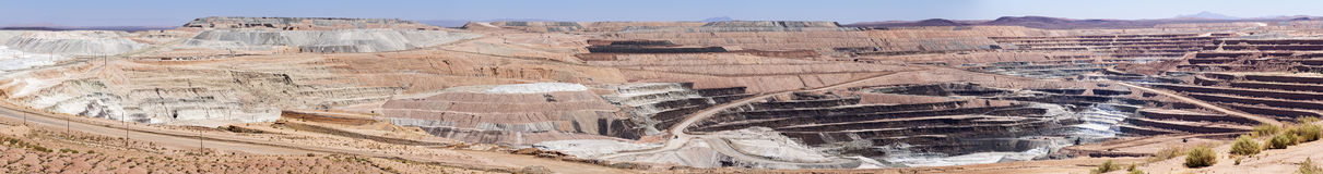 Open Pit Borate Mine Royalty Free Stock Photos