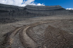 Open pit coal mine Stock Image
