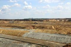 Open pit coal mine Stock Photos
