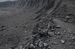 Open pit coal mine Royalty Free Stock Photos