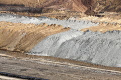 Open pit coal mine mullock Royalty Free Stock Photos