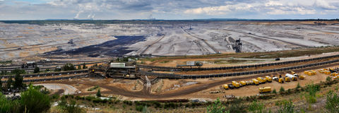 Open Pit Coal Mine - Panorama Royalty Free Stock Images