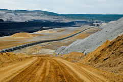 Open pit coal mine Stock Photos