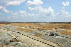 Open pit coal mining Royalty Free Stock Photo
