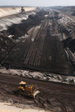 Open-pit coal mining near Cottbus, Brandenburg, Germany. Stock Image