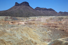 Open Pit Copper Mine Royalty Free Stock Images