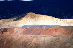 Open pit copper mine Butte, Montana, United States Royalty Free Stock Images