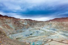 Open Pit Copper Mine in Chile Royalty Free Stock Image