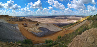 Open pit edge Stock Photography